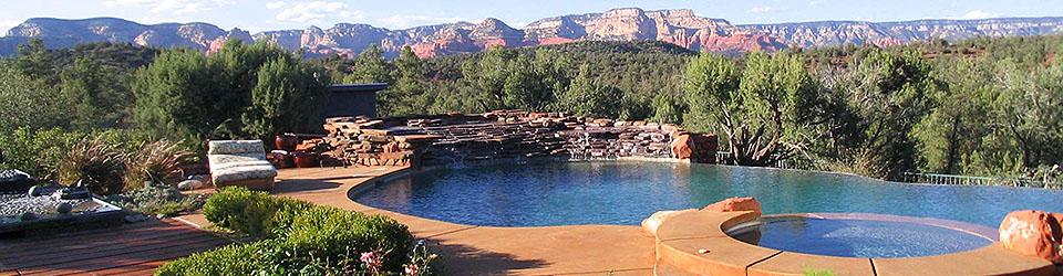 swimming pool, luxry home. Sedona